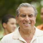 mature man enjoying affordable dentistry