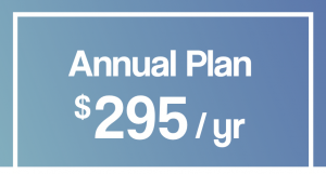 Image showing the annual price of $295 for coverage with Lincoln Dental Plans.